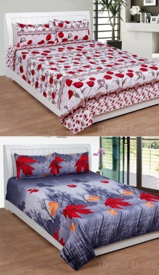 iTrend India Polycotton 3D Printed Double Bedsheet