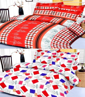 Factorywala Cotton Floral King sized Double Bedsheet