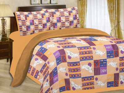 Floroscent Cotton Abstract Queen sized Double Bedsheet