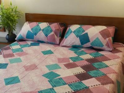 CocoBee Cotton Geometric Double Bedsheet