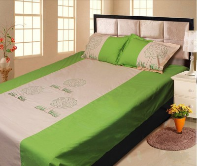 Lullabies Cotton Embroidered Double Bedsheet