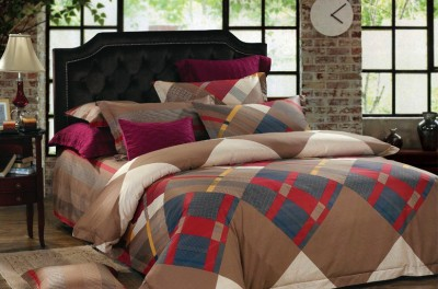 Drape Home Cotton Geometric Double Bedsheet