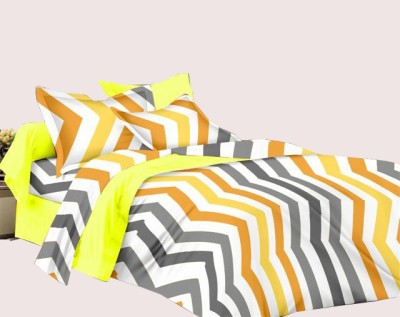 Manzoni by KAWAI COLLECTION Cotton Striped Double Bedsheet