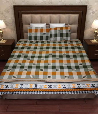 Home Fashion Gallery Cotton Checkered Double Bedsheet