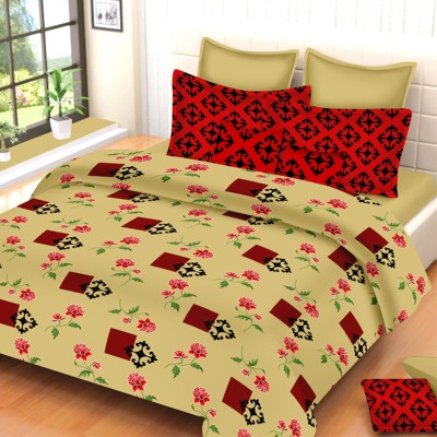 Always Plus Cotton Embroidered Double Bedsheet