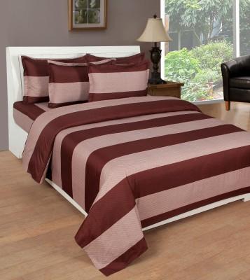 NIRWANA Polycotton Striped Double Bedsheet
