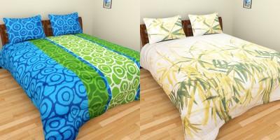 Bichauna Odele by Creative Portico Cotton Printed Double Bedsheet