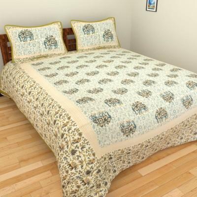 Rangasthali Cotton Animal Double Bedsheet