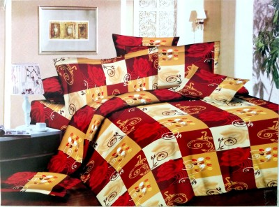 The Intellect Bazaar Polycotton Abstract Double Bedsheet