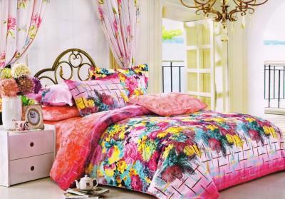 Skap Cotton Floral Double Bedsheet