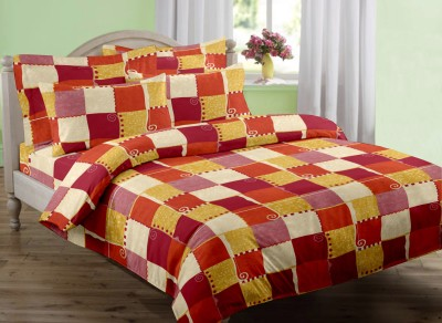 Dreamscape Cotton Abstract Double Bedsheet