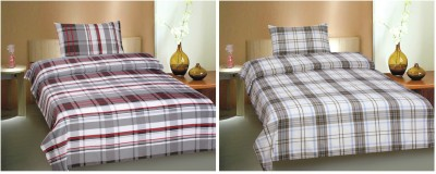 Ctm Textile Mills Polyester Checkered Single Bedsheet