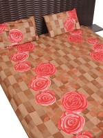 Ratash.com Cotton Floral Double Bedsheet(1 Double Bedsheet, 2 Pillow Cover, Multicolor)