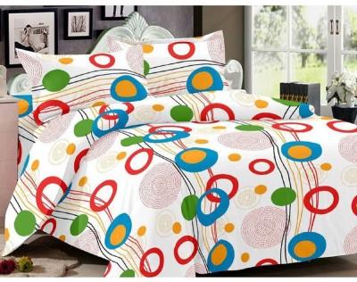 Leocapult Cotton Geometric Double Bedsheet