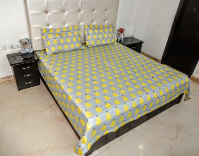K Gallery Polycotton Printed Double Bedsheet
