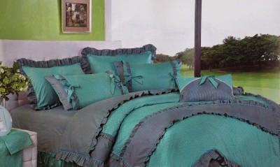 I-Dream Decor Cotton Polka Double Bedsheet