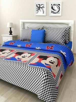 Mahirfurnishing Cotton Text Print Double Bedsheet