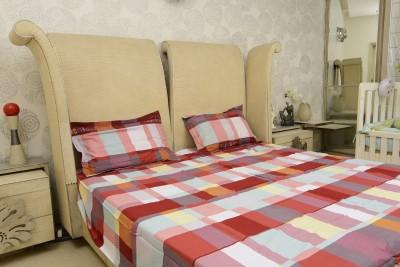 Sassoon Cotton Geometric King sized Double Bedsheet
