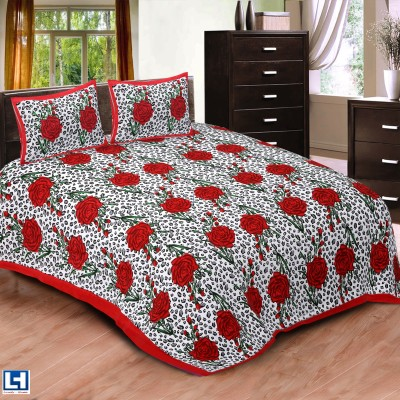 Lovely Home Cotton Floral Double Bedsheet