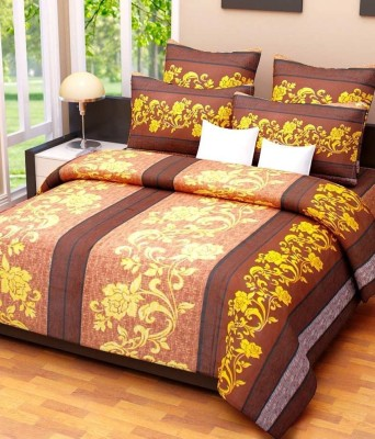 Handloom Times Cotton Floral Double Bedsheet