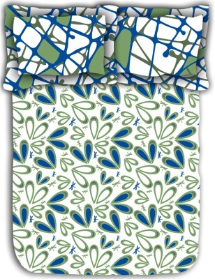 Mark Home Cotton Abstract Double Bedsheet
