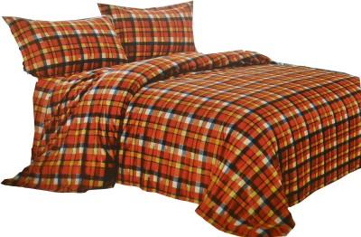 Vg store Velvet Checkered Double Bedsheet