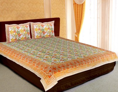 Craft And Artisans Cotton Plain King sized Double Bedsheet