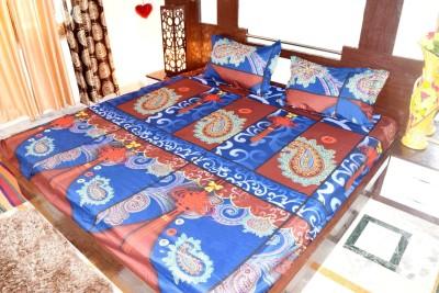 Hashcart Cotton Printed King sized Double Bedsheet
