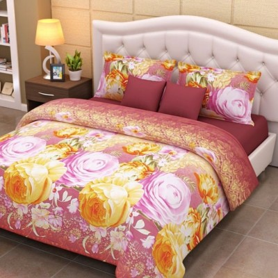 Home Creations Polyester Floral Double Bedsheet
