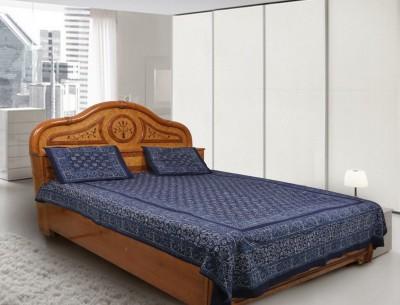 Navrang Colours of India Cotton Geometric Double Bedsheet