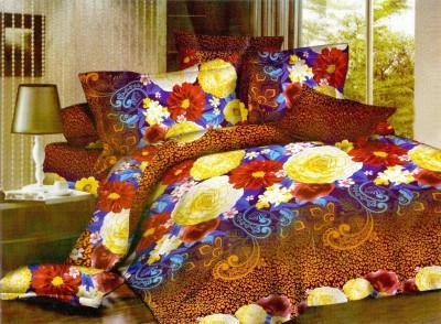 3D Bed Sheet Polycotton Floral Double Bedsheet