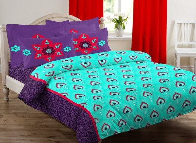 Beguile Satin Abstract Double Bedsheet