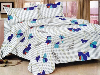 Bedline Home Cotton Floral Double Bedsheet