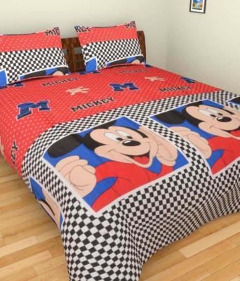 Ridhaan Cotton Cartoon Double Bedsheet