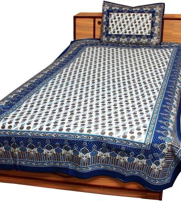 Anshuhandicrafts Cotton Paisley Single Bedsheet