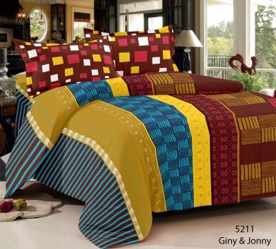Home Castle Cotton Geometric Double Bedsheet