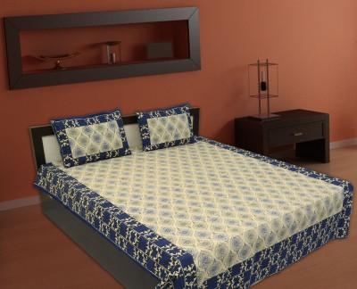 V Home Elegance Satin Printed Double Bedsheet