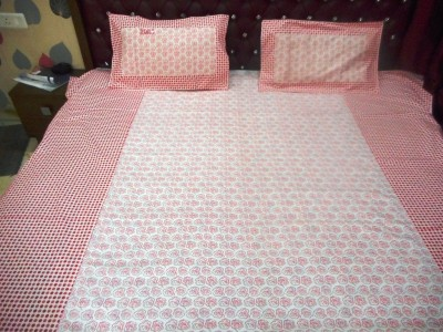 Home Linen Cotton Printed Double Bedsheet