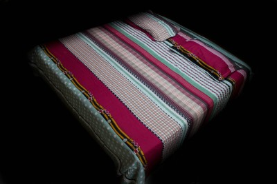Neelam Traders Cotton Striped Double Bedsheet