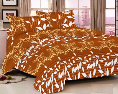 The Home Story Cotton Floral King sized Double Bedsheet