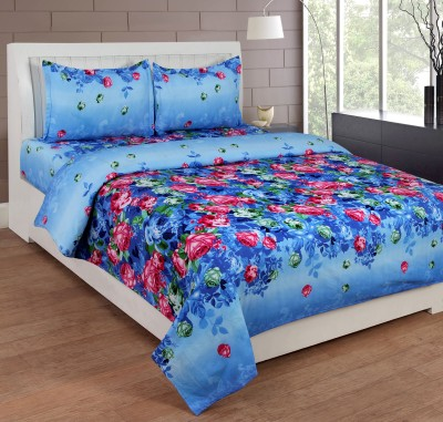 SKYTEX Polycotton 3D Printed Double Bedsheet