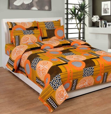 NITAVI Cotton Geometric Double Bedsheet
