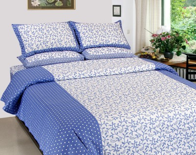 Optimistic Home Furnishing Cotton Floral Double Bedsheet