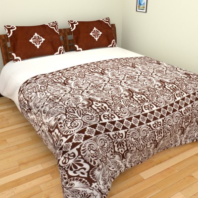 Bichauna by Portico Cotton Linen Blend Abstract King sized Double Bedsheet