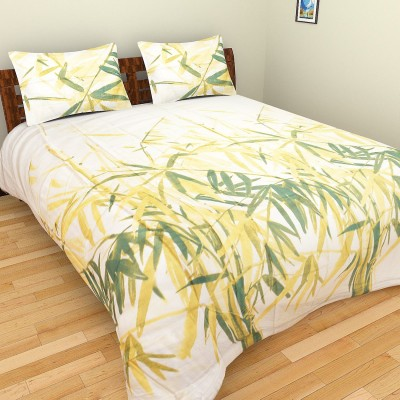 Bichauna Odele by Creative Portico Cotton Linen Blend Printed King sized Double Bedsheet