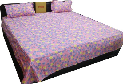 Kurl-On Cotton Printed King sized Double Bedsheet