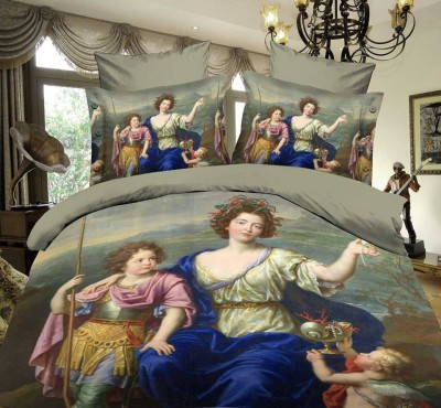 Florida Cotton Printed Queen sized Double Bedsheet