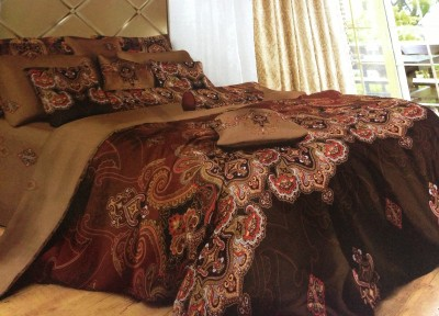Tima Polycotton Printed King sized Double Bedsheet