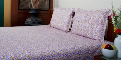 Viniyog Cotton Printed Double Bedsheet