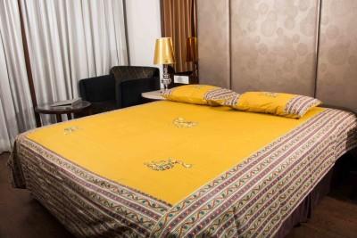 Navkar Eshop Cotton Printed Double Bedsheet